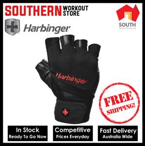 Harbinger Pro Wrist Wrap Weightlifting Gloves FREE SHIPPING