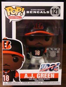A.J. GREEN #18 CINCINNATI BENGALS BLACK JERSEY FUNKO POP FIGURE #121 NFL 100