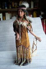 Native  Indian  Porcelan  18'' inch  Halona   Doll