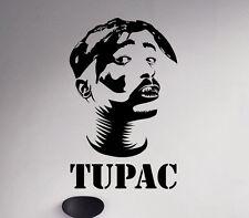 Tupac Shakur Wall Decal 2Pac Vinyl Sticker Hip Hop Unique Home Art Decor 56(nse)