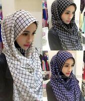 Beutiful Chiffon Lattic Muslim Long Scarf Hijab Islamic Shawls Arab Shayla