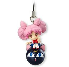 SAILOR MOON TWINKLE DOLLY SERIES 1 - CHIBIUSA Chibi LunaP Keychain Phone Strap
