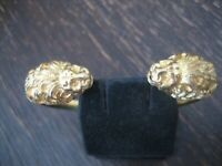 prächtiger Jugendstil Armreif Löwe Löwenkopf 2 Löwen 900er Silber gold vergoldet