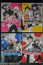 JAPAN manga: Super Danganronpa 2: Nangoku Zetsubo Carnival! 1~4 Complete set