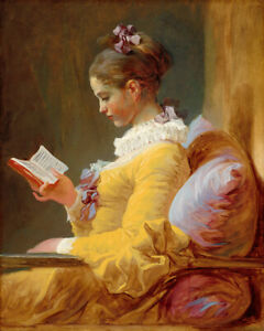 Young Girl Reading (1770) Jean-Honore Fragonard French wall art poster print