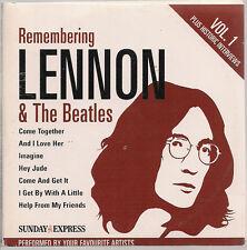 Remembering John Lennon The Beatles Vol 1 only  CD Sunday  Express gatefold slv