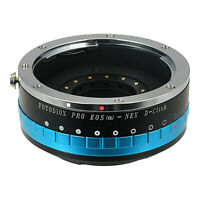 Fotodiox PRO IRIS Lens Adapter Canon EOS EF/EF-S Lens to Sony E-Mount Camera