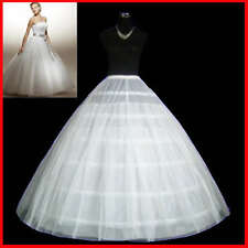 HOOP WEDDING BRIDAL PROM PETTICOAT UNDERSKIRT CRINOLINE  Gown Skirt