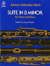 J.S. Bach Suite In B Minor BWV 1067 Learn to Play Flute Piano Sheet Music Book