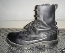 Genuine British Army Black Leather Vintage Combat / Assault Boots UK size 8. G2