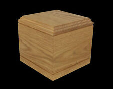 Pet Urn - Handmade - Oak - Solid Wood - For pets less than 75 pounds