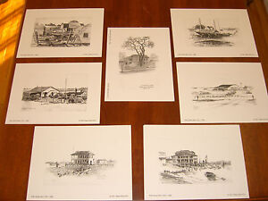 James Tabor Stratford (CT) Sketch Collection;Late 1940's,(7) Lithograph Set
