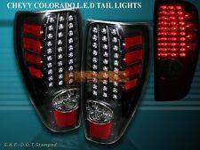 2004-2009 CHEVY COLORADO / GMC CANYON TAIL LIGHTS LED BLACK BRAKE LAMPS NEW