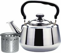 Stainless Steel Tea Kettle and Strainer, 3 L, Hot water Tea Maker Great QUALITY