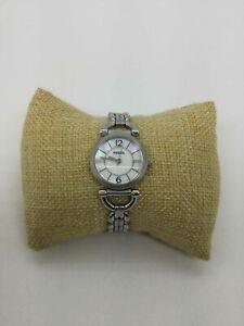 Fossil Silvertone MOP Dial St. Steel Wrist Watch