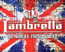 "10 x 8"" LAMBRETTA SCOOTER MODS BRIGHTON NORTHERN SOUL METAL PLAQUE TIN SIGN N449"