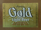 VINTAGE AMERICAN BEER LABEL - OLYMPIA BREWERY, OLYMPIA GOLD LIGHT BEER 12 FL OZ