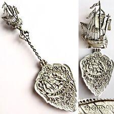 "Antique Ornate Silver Dutch Hendrik Hooijkaas Schoonhoven 9""/24cm Cake Spoon"