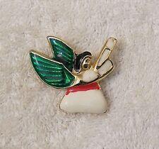 Love Hope Jesus Holidays Cele Ch0 Vintage Repro Christmas Pin Brooch Angel Faith