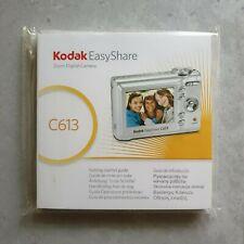 Kodak EasyShare MANUAL and SOFTWARE CD for C613 Digital Cameras New Sealed