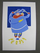 """Rie Munoz Signed/Numbered Limited Edition Serigraph - """"Ice Fishing"""" 133/575"""