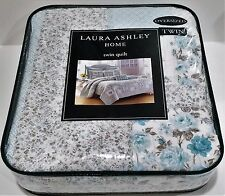 LAURA ASHLEY HOME TWIN FLORAL QUILT