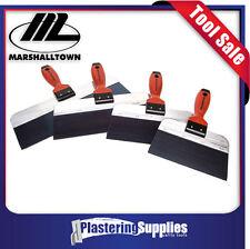 """Marshalltown Taping Knife Set 8"""" 10"""" 12"""" 14"""" Blue Steel"""