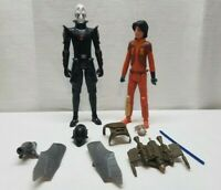 """Star Wars Rebels Ezra Inquisitor Action Figure Toy Lot 12"""" Toy Cartoon Sith Jedi"""