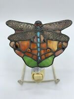 Tiffany-Style Dragonfly Stain Glass Night Light
