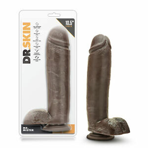 """Blush 11"""" Long Thick XL Realistic Suction Cup Big Black Dildo - Chocolate Brown"""