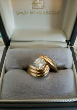 Vintage Bailey Banks & Biddle 14k Gold Ring With Real Natural Diamond