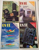 BYTE Magazine Lot (4 Issues) 1986 Sep, Oct, Nov, Dec - Vintage Computer Tech