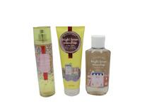 Bath & Body Works Bright Lemon Snowdrop Shower Gel Fragrance Mist Body Cream Set