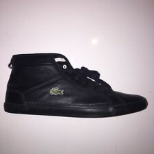a1c12f5e2 Lacoste Men s Winter Wool Spun Sneakers High Top Black Leather Trainers ...