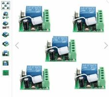 5Pcs DC12V 10A 1CH 433MHz Wireless Relay RF Remote Control Switch Receiver