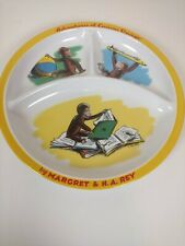 Curious George Monkey Child's Plate 8.5� Adventures of Curious George� divided