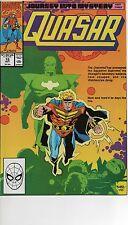 QUASAR #15 NM 1990 ROCKET RACCOON SQUADRON SUPREME MIKE MIGNOLA COVER