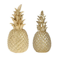 2pcs Resin Pineapple Showpiece Desktop Ornaments for Living Room Office