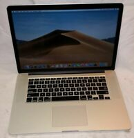 "Apple 2014 Macbook Pro 15"" Retina 2.2GHz i7 16GB RAM 256GB SSD A1398 Mojave"