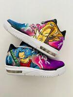 Air Jordan Flight Origin 3 Custom Goku and Trunks shoes. Brand New Size 4.5y