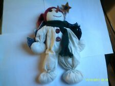 "10"" Snowman Christmas Shelf Sitter Rag  Doll"