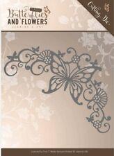 Jeanine/'s Art Clásico Mariposas y Flores Mariposa Marco Esquina de corte morir