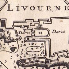 Carte Géographique XVIIIe Livourne Toscane Italie Livorno Tuscany Italia 1764