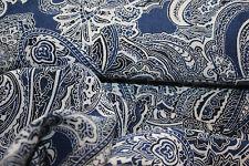 Viscose-Baumwolle 50 x 150 blau/weiß
