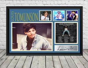 Louis Tomlinson Signed Photo Print Autographed Poster Memorabilia