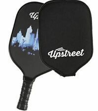 NEW UPSTREET 2 GRAPHITE PICKLEBALL RACKETS & 2 ZIPPERED CARRY CASES