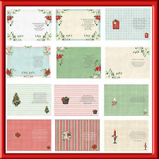 A6  CHRISTMAS LUXURY INSERTS WITH VERSES FOR  SPECIAL CARDS X PACK 2 (24 )