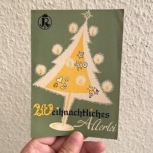 Vintage Werbung ALT 1950er Plätzchen Rezepte-Heft WEIHNACHTEN Backen A6 Kiel ALT