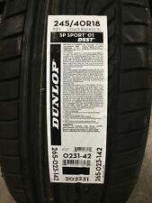 1 New 245 40 18 Dunlop SP Sport 01 DSST Run Flat Tire