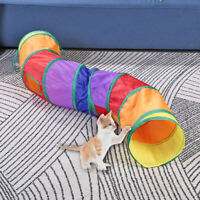 Small Pet Kitten Cat Play Tunnel S Shape Collapsible Crinkle Rabbit Funny Toy